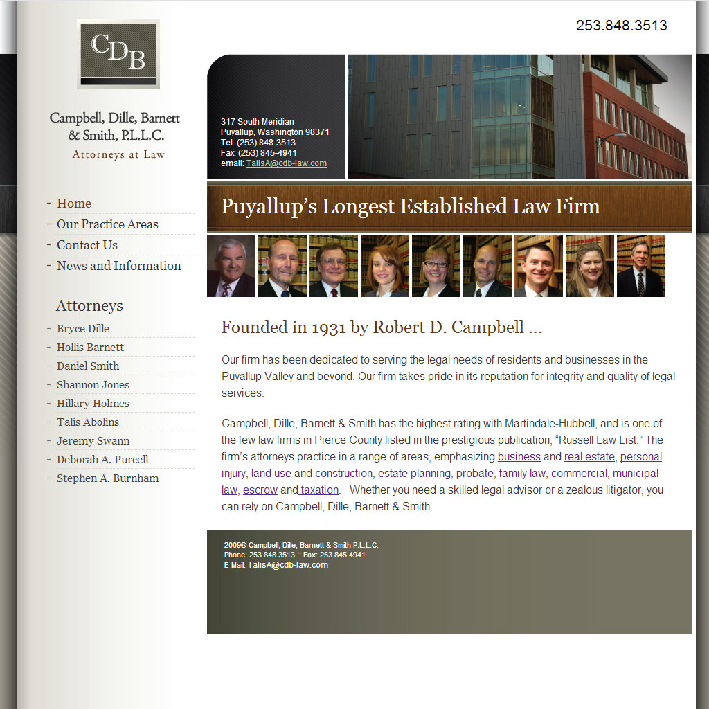 Campbell, Dille, Barnett & Smith WordPress site
