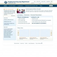 Employment Security Department ASP.NET Templates