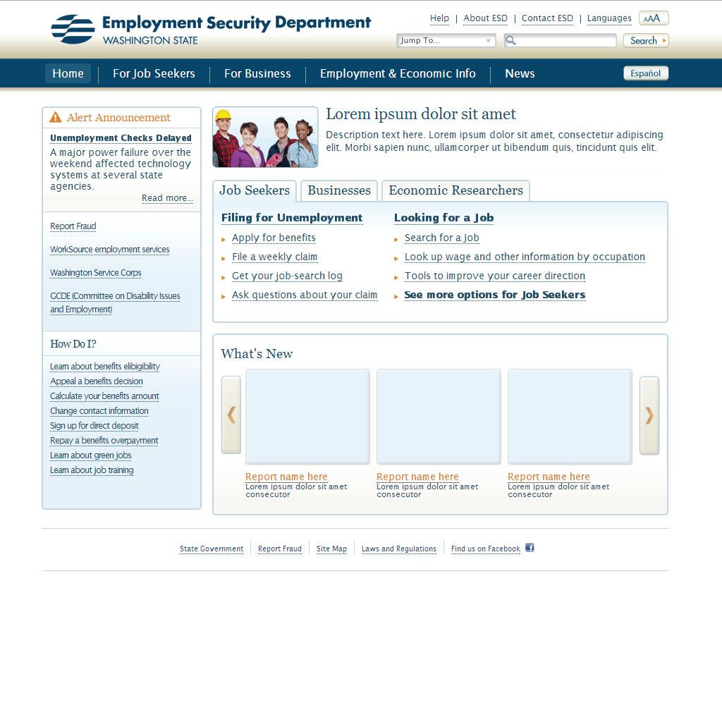 Employment Security Department ASP.NET Templates