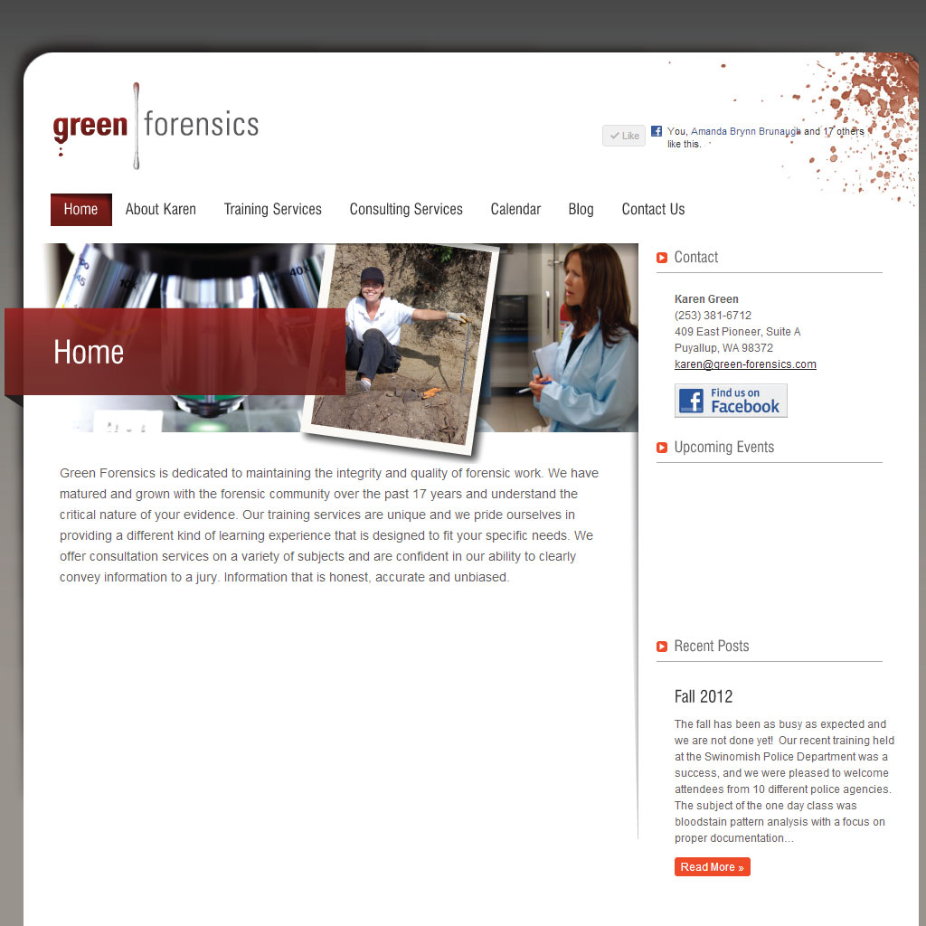 Green Forensics WordPress site