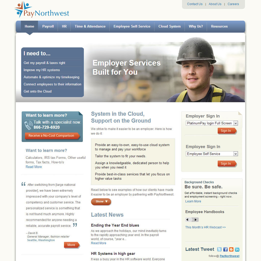 Paynorthwest .NET site